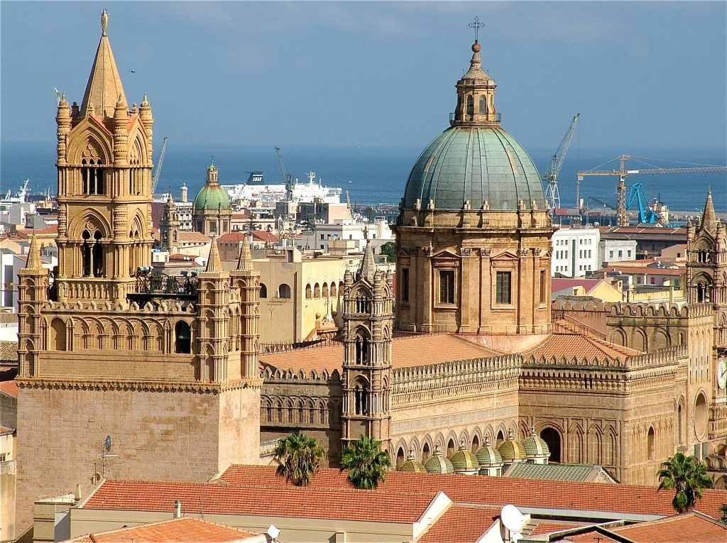 Cathedral of Palermo view from above